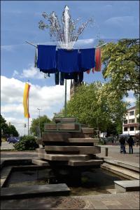 Entwurf: WÄschespinne auf Rikus-Brunnen