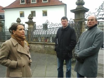 Ortstermin vor der Marktkirche