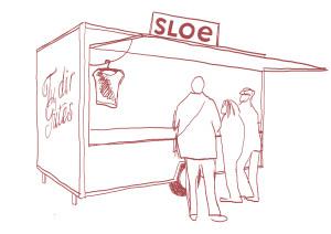 Illustration zu SLOE © dilettantin produktionsbüro